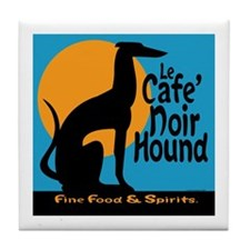 Le Cafe' Noir Hound Tile Coaster