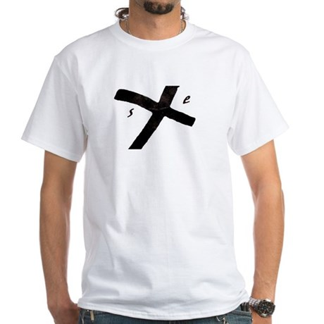 Straight Edge White T-Shirt