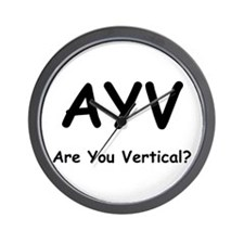 Are You Vertical? Wall Clock