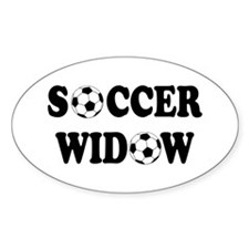 Soccer Widow Oval Decal