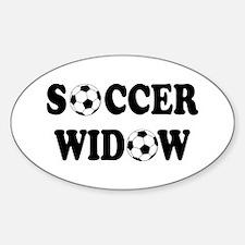 Soccer Widow Oval Decal