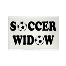 Soccer Widow Rectangle Magnet