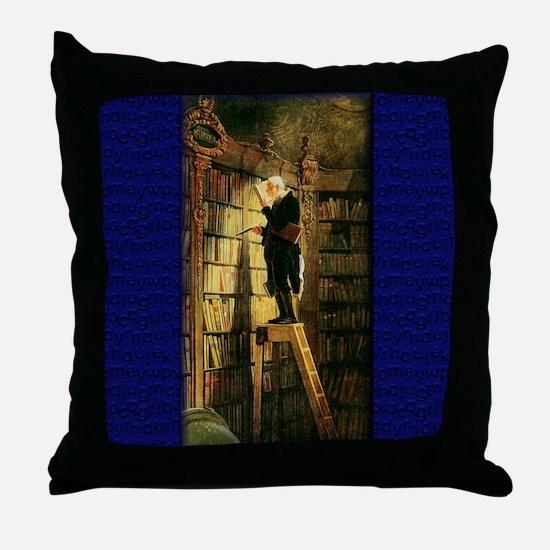 """The Bookworm"" Throw Pillow"