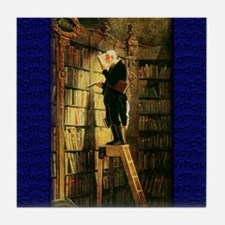 """The Bookworm"" Tile Coaster"