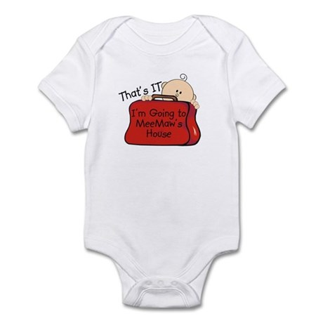 Going to MeeMaw's Funny Infant Bodysuit