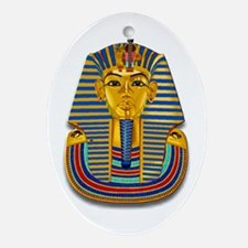 King Tut Mask #2 Oval Ornament