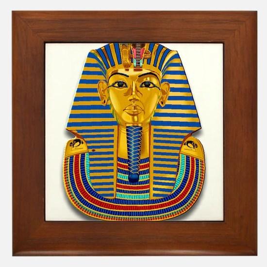 King Tut Mask #2 Framed Tile
