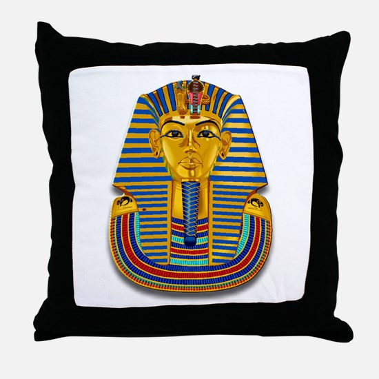 King Tut Mask #2 Throw Pillow