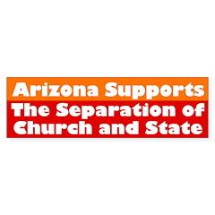 Arizona Supports... (bumper sticker)
