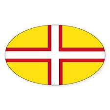 Dorset Flag Oval Sticker (10 Pk)