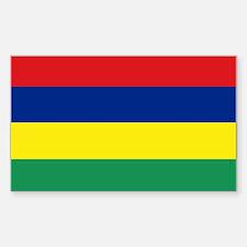 Mauritius Rectangle Decal