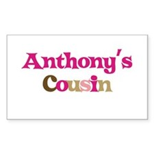 Anthony's Cousin Rectangle Decal