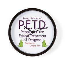 P.E.T.D. Wall Clock