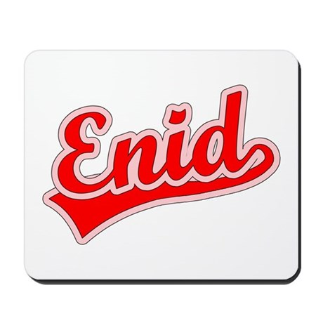 Retro Enid (Red) Mousepad