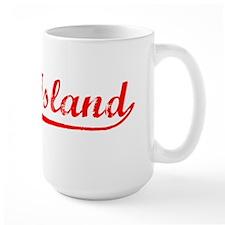 Vintage Rock Island (Red) Mug
