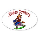 Rodeo Cowboy Oval Sticker