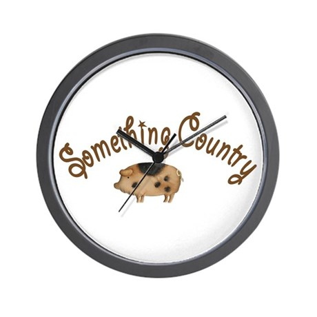 Something Country Pig Wall Clock
