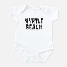 Myrtle Beach Faded (Black) Infant Bodysuit