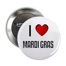 "I LOVE MARDI GRAS 2.25"" Button (100 pack)"
