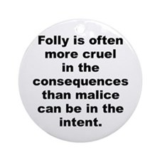 Aldous huxley quote Ornament (Round)