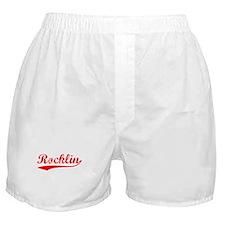 Vintage Rocklin (Red) Boxer Shorts