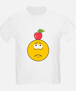 Knife Throwing Target Smiley Face T-Shirt