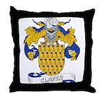 Claver Family Crest Throw Pillow