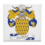 Claver Family Crest Tile Coaster