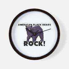 American Black Bears Rock! Wall Clock
