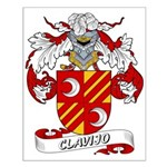 Clavijo Family Crest Small Poster