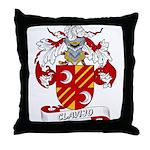 Clavijo Family Crest Throw Pillow