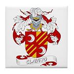 Clavijo Family Crest Tile Coaster