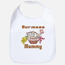 Burmese Cat Designs Cotton Baby Bib