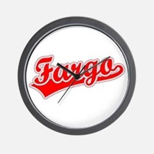 Retro Fargo (Red) Wall Clock
