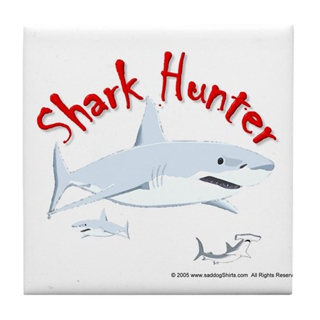 Shark Hunter 2 Tile Coaster