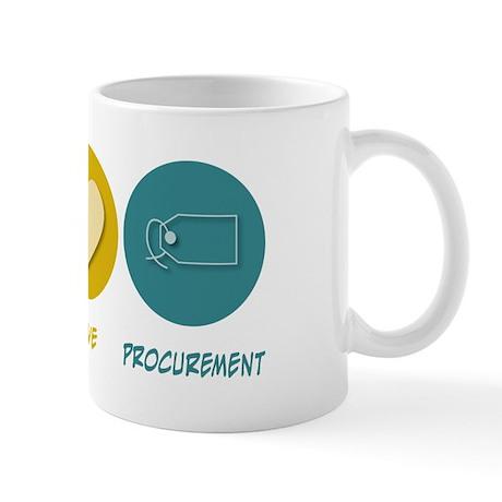 Peace Love Procurement Mug