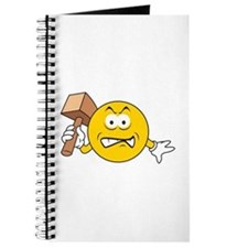 Mad Smiley Face With Hammer Journal