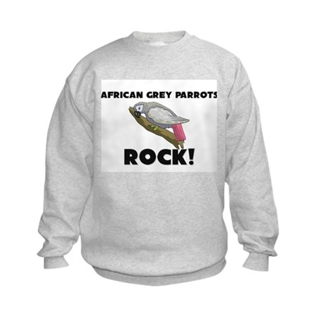 African Grey Parrots Rock! Kids Sweatshirt
