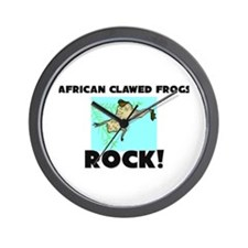 African Clawed Frogs Rock! Wall Clock
