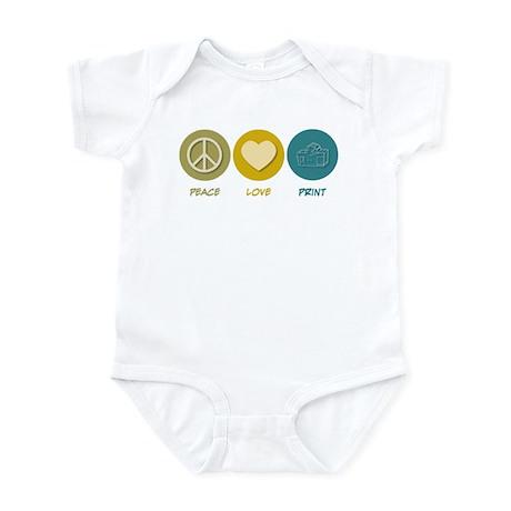 Peace Love Print Infant Bodysuit