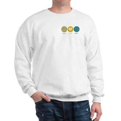 Peace Love Print Sweatshirt