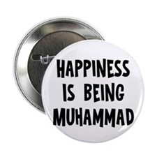 "Happiness is being Muhammad 2.25"" Button"