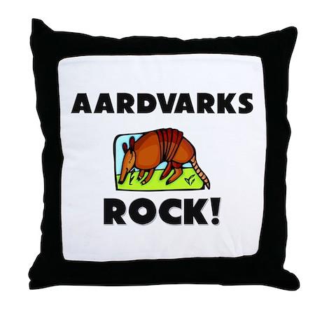 Aardvarks Rock! Throw Pillow