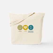 Peace Love Pre-School Education Tote Bag