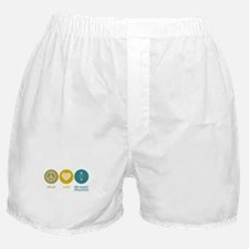 Peace Love Pre-School Education Boxer Shorts