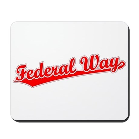 Retro Federal Way (Red) Mousepad