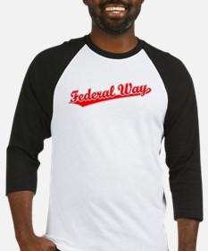 Retro Federal Way (Red) Baseball Jersey