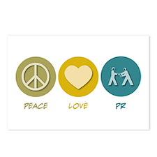 Peace Love PR Postcards (Package of 8)