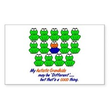 Different FROGS 1 (Grandkids) Rectangle Decal