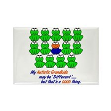 Different FROGS 1 (Grandkids) Rectangle Magnet